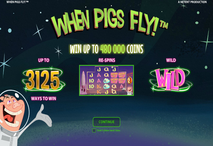 online casino slot when pigs fly
