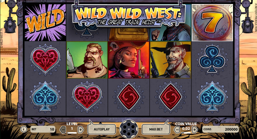Play Wild Wild West: The Great Train Heist slot online at Casino.com UK