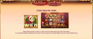 Fairytale Legends: Red Riding Hood Sticky Wild Re-spins
