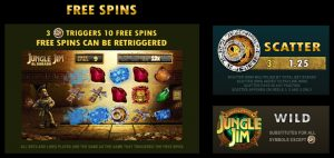 Jungle Jim: El Dorado Free spins