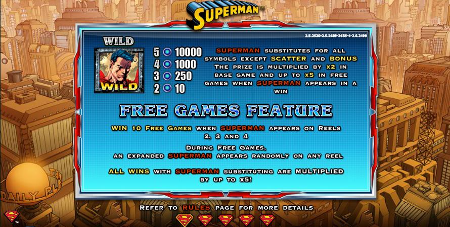 Superman Casino Game