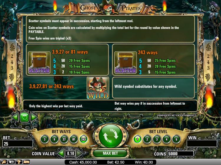 Ghost Pirates Bonus