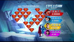 Superman II Slot Review Bonuses